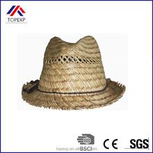 100% rush paja del sombrero de fedora para las muchachas