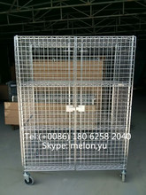 Chrome Security Cage Cart for SMT components