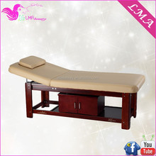 MA-41 wooden spa bed wood massage table bed for beauty salon equipment