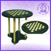 "Deluxe & modern 24"" wooden chess game set solid table"