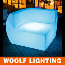 Fashionable Color Illuminated Plastic LED Leisure Sofa