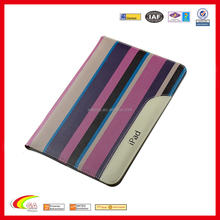 wholesale drop resistance leather fabric stitching color cover case for apple ipad mini 234