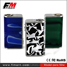 new products Colorful zero 26650 vw 50w box mod with 5000 mah long cycle life