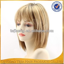 Qingdao wholesale new fashion short style ombre kanekalon synthetic wig