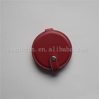 Novelty leather cosmetic mirror/hot selling leather/PU compact round cosmetic mirror