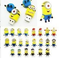 Newest!!! Custom PVC cartoon despicable me usb flash drive