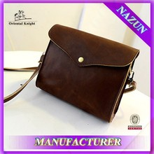 Classic brown smooth leisure envelope clutch bag wholesale