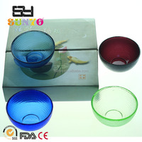 Handblown popular customized size solid color leadfree crystal charger plate bowl set high quality model