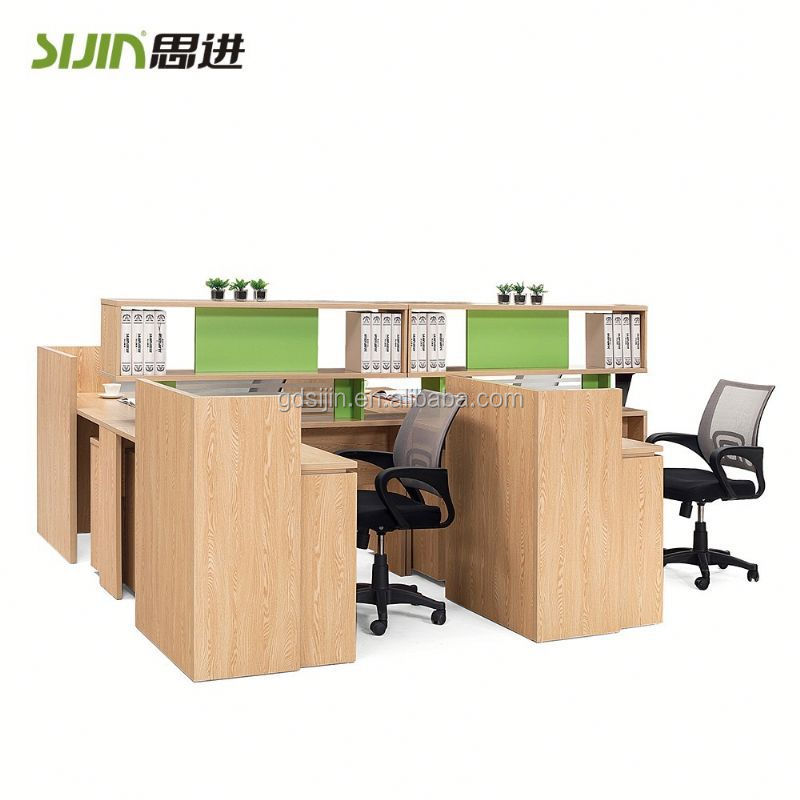 melamine modern office partitions glass panel office furniture