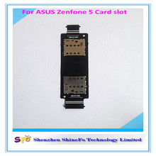 China wholesale Mobile phone accessories Sim Card Reader Slot Holder Flex Cable For Asus ZenFone 5