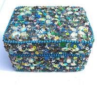 Rawat Handicrafts lac mirrors sequence beaded Glittered Handmade aluminium Metal Box Manufacturer wholesales Exporters