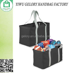 Promotional Oversized Carry-All Tote Bags with metal frame on top supermarket tote bag