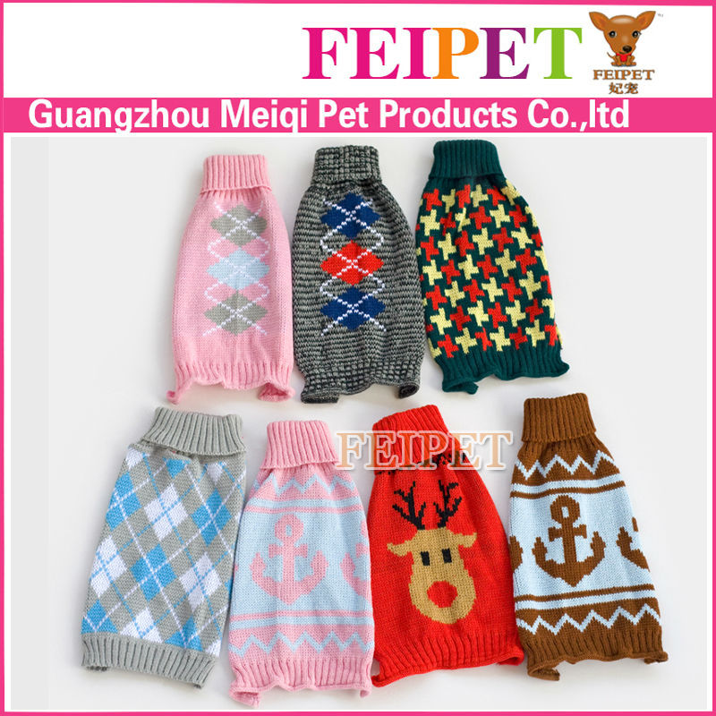 Adorable Hand Knit Sweater Pet Dog Clothes Free Knitting Pattern