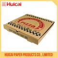 Diseño personalizado de envases de papel corrugado cuadro fabricante de pizza