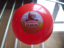 "PVC inflatable beach ball, red ,18"" ball"