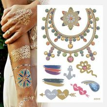 Tattoo Body Art Sticker Gift Paper Bag Circle Necklace Tattoo
