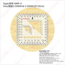 KEARING MILITARY STYLE MGRS/UTM Coordinate PROTRACTOR, combination square set protractor,#KMP-4