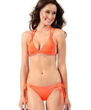 2015 wholesale fashion lady bikini strappy beachwear