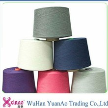 mc polyester colored yarn 42 2 spun on plastic cone