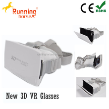 Manufacture Best Quality Plastic Google cardboard VR 3D glasses for max. 4.7-6 inch phones