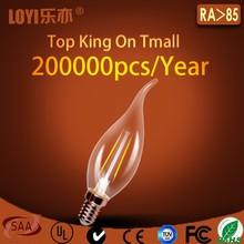 Warm white LED Chandelier candle bulb, SMD LED globe lighting bulbs