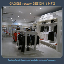 Fashionable Wooden Garment Store Display Fixtures With Good Quality