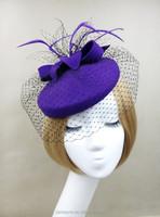 Wholesale Alibaba Party/Races Women Wool Fascinator Felt Hat