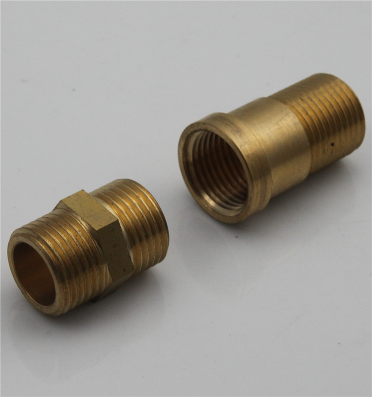 G male and female threaded connector brass pipe