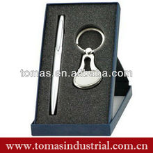 Classic ball pen and keychain boxed set for 2013 hot sale fashion gift set