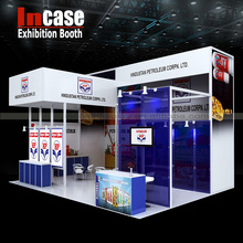 Incase exhibition booth design services,customize advertising display booth