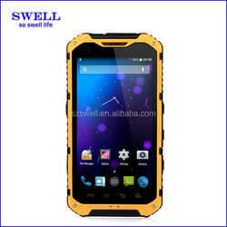POS terminal A9 rugged no brand android phone with NFC 4.3inch android4.4 MTK6582 waterproof shockproof dustproof cell phone