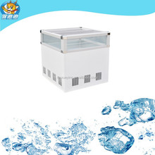 Cream dairy product display cabinet refrigerator used in supermarket