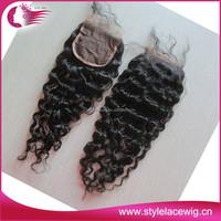 Best selling brazilian silk base closure, Cheap lace closure