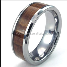 Latest designs wood finger ring trendy metal real wood ring,titanium/tungsten wood wedding band,wood engagement ring design