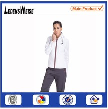 White bike jacket for the spring and autumn with zipper