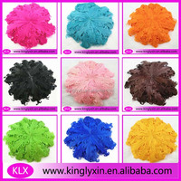 2014 NEW ! various color curly feather pad for baby hair accessory