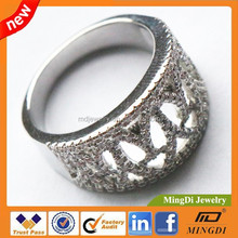 925 sterling silver jewelry, Crown cluster rings, ladies CZ rings for any party