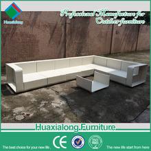 Garden furniture wicker white pvc rattan sectional outdoor furniture