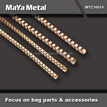 High quality zinc alloy clear pvc bag with handle chain