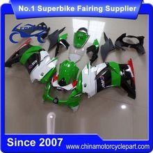 FFKKA001 Motorcycle ABS Fairing Kit For Ninja250R Ninja 250R 2008-2012 Green And White And Black 2