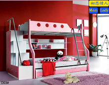 2015 new kids MDF wood bunk bed with slide for sale