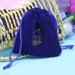 promotional velvet coin pouches with drawstring
