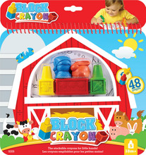 Coloring Book with 5 Block Crayons Set