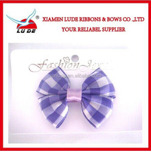 Direct factory fancy tarton/plaid ribbon hair bows for baby/kids