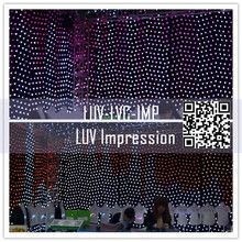 new design led electronic display curtain