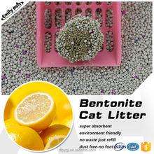 High Adsorption Dust Free Bentonite Pet Sand Lemon