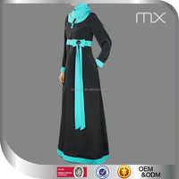 designer dual color contrast burka kebaya kurung moroccan kaftan long maxi dress abaya dubai style