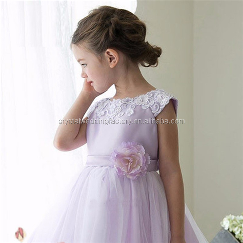 Latest Children Puffy Ball Gown Wedding Bridesmide Dresses Frocks ...