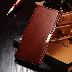 ICARER Luxury Genuine Leather Flip Case For Samsung Galaxy A8 Wallet Mobile Phone Cover With Card Slot Premium