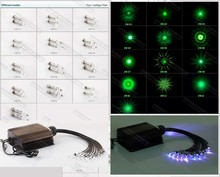 crystal lighting fitting optical fiber ceiling end piece with 13 model selection